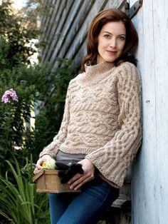 Horizontal Cable Pullover | Yarn | Free Knitting Patterns | Crochet Patterns | Yarnspirations