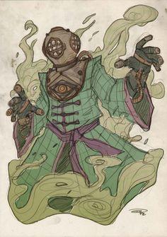 Steampunk Mysterio by Denis Medri