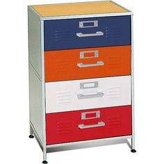 American Furniture Alliance Locker 4 Drawer Dresser       Air Beds, Sheets,  Mattresses, And Bedding Accessories