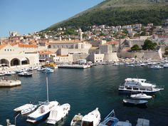 Another shot of Dubrovnik Harbor from the wall.