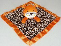 Garanimals Tiger Baby Blanket Orange Brown Leopard Print Security Lovey #Garanimals