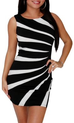 Double Life (Black/White)-Great Glam is the web's best online shop for trendy club styles, fashionable party dresses and dress wear, super hot clubbing clothing, stylish going out shirts, partying clothes, super cute and sexy club fashions, halter and tub