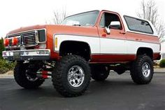 1977 Chevrolet K5 Blazer Cheyenne 4x4. We traded a '72 Blazer for one of these (without the lift). We loved this truck!
