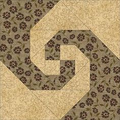 It's Easy to Make a Snail's Trail Quilt -- Just Follow My Simple Instructions: Close Up of Snail's Trail Quilt Block