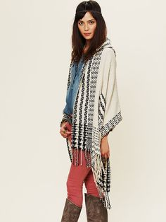 Free People Hooded Poncho, $68.00