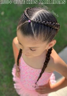 12 Lovely Kids Braided Hair Ideas For 2020 New Trendy Hair Ideas Easy Toddler Hairstyles, Kids Curly Hairstyles, Cute Girls Hairstyles, Trendy Hairstyles, Natural Hairstyles, Toddler Hair Dos, Hairdos, Headband Hairstyles, Braids For Kids