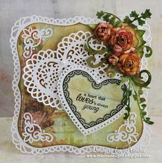 Designs by Marisa: JustRite Papercraft November Release - Sweet Hearts Clear Stamps Die Cut Cards, Love Cards, Wedding Anniversary Cards, Wedding Cards, Valentine Day Love, Valentine Cards, Valentines, Spellbinders Cards, Lace Heart