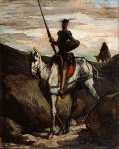 « Don Quixote dans les montagnes » | « Don Quixote in the Mountains » (1850) d' Honoré Daumier (1808-1879)