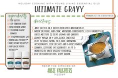 Holiday Cooking with Young Living Vitality oils!  Ultimate Gravy recipe