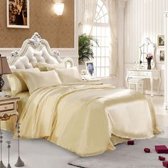 30 Momme Silk Sheets Champagne