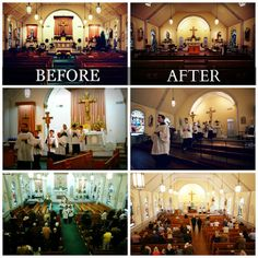 Totus Tuus Family & Catholic Homeschool: A Parish Restoration - Bringing Back The Altar Rail