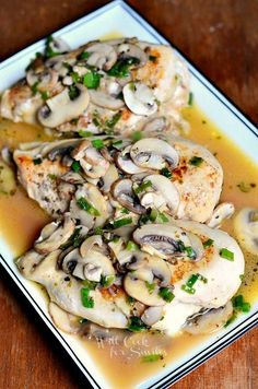 {Light} Stuffed Chicken Marsala Recipe ~ better and lighter version