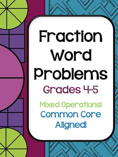 "One of my popular word problem sets!  20 quality word problems, all presented in ""real life"" problem situations and come in three formats--for use in math journals, with 4 per page to use as assessments, homework, or team problem solving, and with one problem per page with room for explanations.  Grades 4-5.  $4.95"