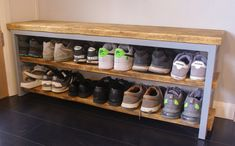 Shoe Rack Hallway, Hallway Bench, Scaffold Boards, Coat Stands, Reclaimed Timber, Furniture Making, Old Houses, Industrial Style, Furniture Design