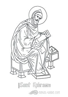 picture st ephraemcatholic saints coloring pages st ephraem free printable bible coloring sheets from our angels in the lives of saint coloring p - Catholic Coloring Pages Printable