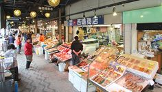 Nijo Market (二条市場, Nijō Ichiba) is a public market in central Sapporo that occupies about one city block.  Buy a bowl of rice and pieces of sashimi // lunch for under $10
