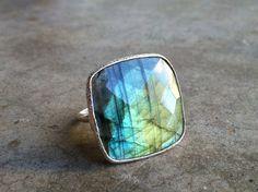 Purple Haze | Sterling Silver Labradorite Ring by Geoffrey Scott