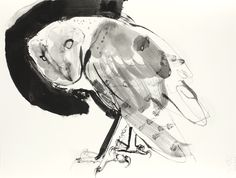 Bill Logan: OWL #175. Ink and surface alteration on paper. 2012.