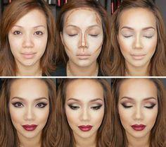 Пошаговый урок, как сделать контурирование лица и красивый макияж