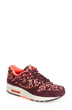 Free shipping and returns on Nike 'Air Max 1 Liberty OG QS' Sneaker (Women) at Nordstrom.com. Premium leather trims the chic Bourton paisley featured on a sneaker that merges advanced tech features with fashion-forward design. Part of a collaboration between Nike and Liberty of London, this shoe combines the comfort and cushioning of an Air Sole unit with Liberty's snazzy styling for a truly special sneaker.