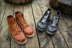 Twenty first birthday gift on right,forty second birthday on left,hats off to Red Wing!