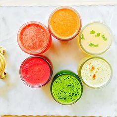 beet+carrot+apple+ginger+celery// watermelon+coconut h2o+lime // tangelo+turmeric root+carrot //…