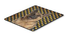 Candy Corn Halloween German Shepherd Mouse Pad, Hot Pad or Trivet KJ1215MP
