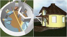 Earthship, Romania, Gazebo, Outdoor Structures, Green, Interiors, Cabin, Kiosk, Pavilion