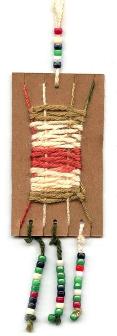 Cardboard Weaving Necklace. Art Projects for Kids by SAburns