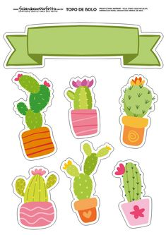 Balloon Garland, Balloons, Deco Cactus, Diy And Crafts, Paper Crafts, Llama Birthday, Mexican Party, Ideas Para Fiestas, Cute Stickers