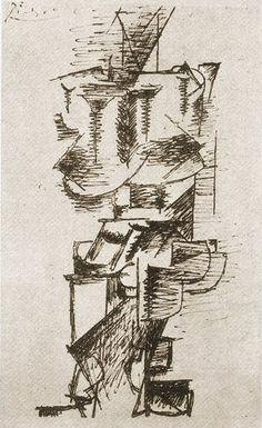 Pablo Picasso, 1910 Femme debout on ArtStack #pablo-picasso #art
