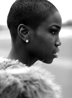 FADED - Short Haircuts for Black women - Get a low fade for natural look.  Stunning!