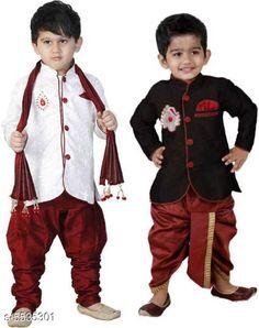 Sherwanis Kid's Boy's Sherwani's  Multipack: 2 Sizes:  4-5 Years (Chest Size: 27 in)  5-6 Years (Chest Size: 28 in)  1-2 Years (Chest Size: 23 in)  3-4 Years (Chest Size: 25 in)  6-7 Years (Chest Size: 29 in)  2-3 Years (Chest Size: 24 in) Country of Origin: India Sizes Available: 2-3 Years, 3-4 Years, 4-5 Years, 5-6 Years, 6-7 Years, 7-8 Years, 18-24 Months, 1-2 Years   Catalog Rating: ★4 (8555)  Catalog Name: Princess Elegant Kids Boys Sherwanis CatalogID_827120 C58-SC1172 Code: 074-5535301-