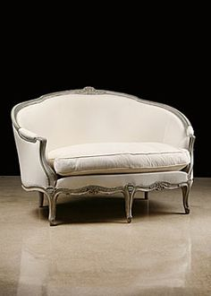 French Antique Louis XV style Painted Settee
