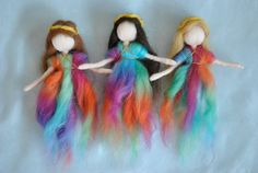 Special Item Waldorf inspired needle felted hanging 4 di MagicWool