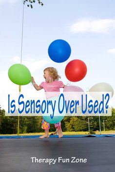 Therapy Fun Zone: Is Sensory Over Used? Pinned by SOS Inc. Resources. Follow all our boards at pinterest.com/sostherapy/ for therapy resources.