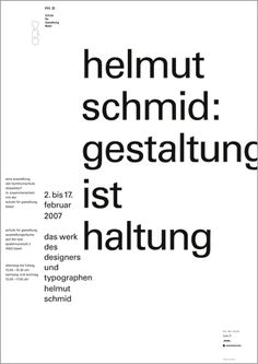 helmut schmid — design is attitude. basel.