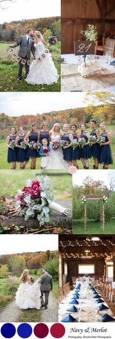 Navy & Merlot Wedding Colors