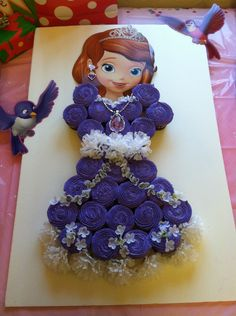 Viviana's Sofia the First Birthday cake!! Took it a step further past the cupcake dress and added my own twist :)