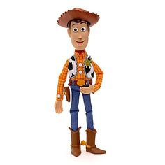 "Features Toy Story Ragdoll Sheriff Woody Soft ragdoll body with sculpted head, hands , boots , belt and hat Approximately 16"" in tall Perfect companion for Karate Action Buzz Lightyear Sized to ride the Free Wheeling RC Car (sold separately) Approximately 16"" tall"