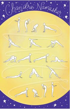 Chandra Namaskar - Moon Salutation Sequence  - loved & pinned by www.omved.com