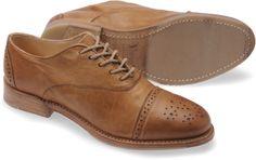 Vintage Shoe Company women's brogue oxford in tan