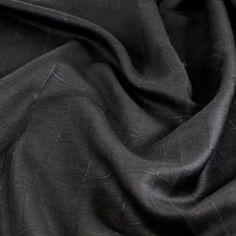 Square Pegs Linen - Black - Gorgeous FabricsGorgeous Fabrics