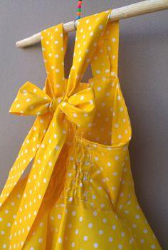 Vestido de lunares amarillo vestido de chicas lindas niño