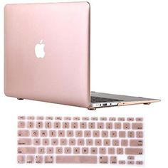 """Vasileios 2in1 Rubberized Frosted Soft-touch Hard Shell Case Cover for 13-inch Macbook Air 13.3"""" (Model: A1369 and A1466) (New-gold)"""