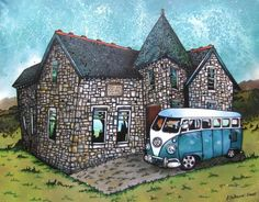 Camper van to get us to our Scottish cottage on a loch. I can dream