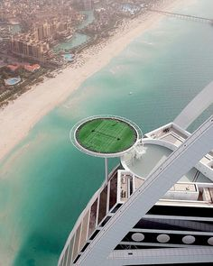 In 2005 a helipad 650 ft above the ground on top of the Burj Al Arab hotel in Dubai in the United Arab Emirates was temporarily converted into the world's highest tennis court