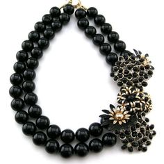 Black necklace from Elva Fields