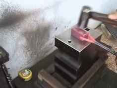 Making a simple blacksmith rivet header / heading tool - YouTube