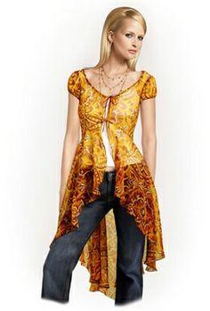 Patrón de costura PDF 5772 de túnica, personalizado para el tamaño de encargo, mujeres ropa